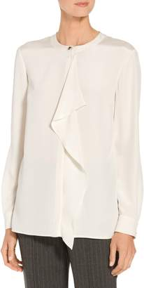 St. John Lightweight Satin Back Crepe Blouse