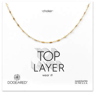 Dogeared 14K Over Silver Choker Necklace