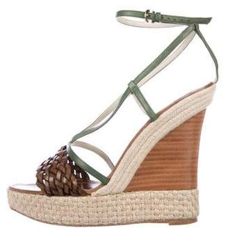 Etro Leather Wedge Sandals
