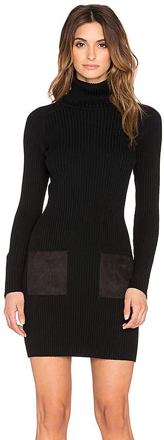 Slim Rib Suede Pocket Dress