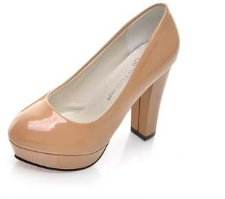 Gaorui Women Waterproof high-Heel Wedding Platform Shoe Sexy Lady Nightclub Party Pump