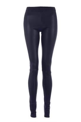 ELLESD - Navy Leather Stretch Leggings