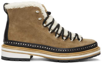 Rag & Bone Brown Suede & Shearling Compass Boots