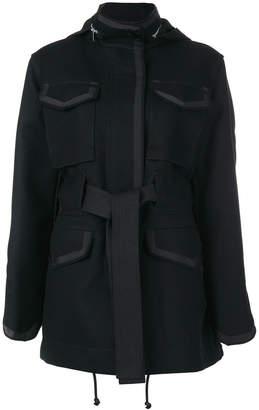Sacai oversized belted coat
