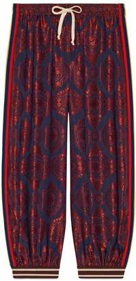 Gucci Contrast print silk track bottoms
