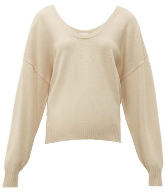 See by Chloe Scoop Neck Wool Blend Sweater - Womens - Beige