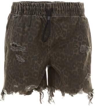 Alexander Wang Leopard Printed Shorts