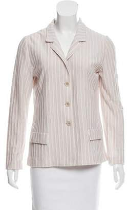 Amina Rubinacci Striped Linen-Blend Jacket
