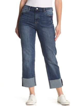 Tractr High Rise Cuffed Crop Jeans
