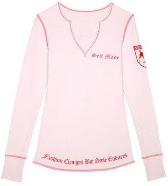 Pink Label Jill Graphic Henley