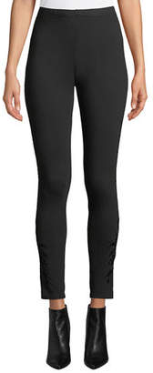 Johnny Was Darielle Tonal-Embroidered Leggings