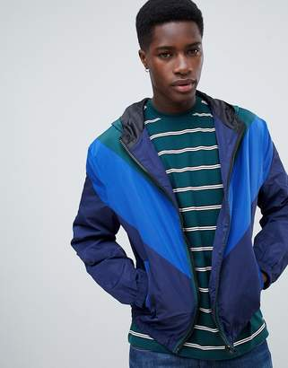 New Look color block jacket in blue