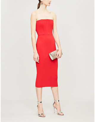 Alex Perry Malene bodycon crepe knee-length dress