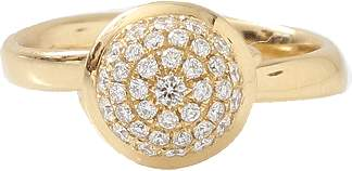 Tamara Comolli Small Diamond Pave Bouton Ring