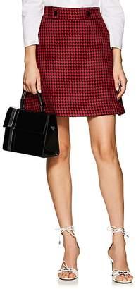 Barneys New York Women's Houndstooth A-Line Skirt