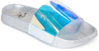 Beverly Hills Polo Club Iridescent Barret PVC Slide Sandals