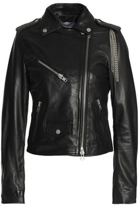 Muu Baa Muubaa Chain-Embellished Leather Biker Jacket