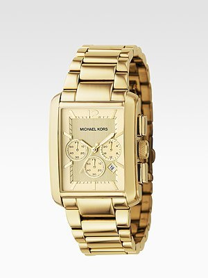 Michael Kors Three-Link Watch/Gold