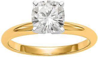 FINE JEWELRY Womens 3/4 CT. T.W. White Moissanite 14K Gold Round Solitaire Engagement Ring