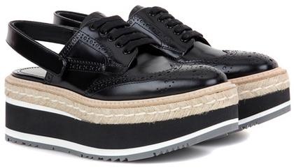 pradaPrada Leather Sling-back Platform Shoes