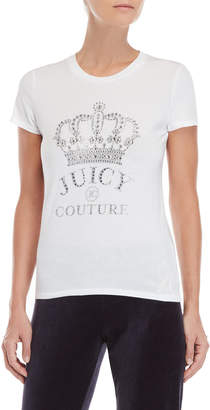 Juicy Couture Rhinestone Crown Logo Tee
