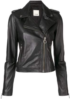 Pinko cropped biker jacket