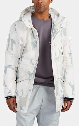 Rossignol Men's Gravity Camouflage Hooded Down Parka - White Pat.