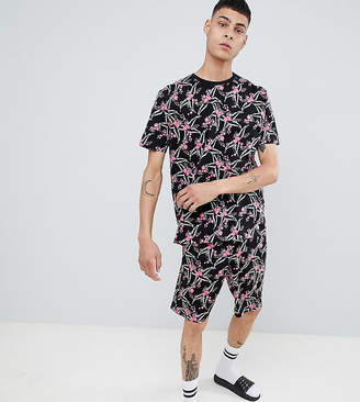 Asos DESIGN pyjama set with shorts in floral print