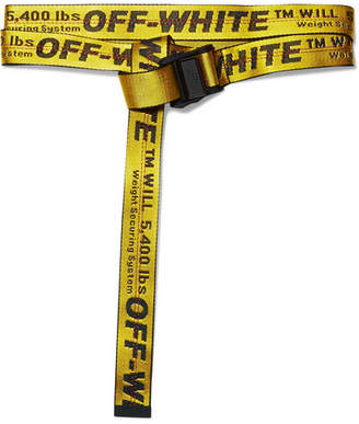 Off-White - Industrial Embroidered Canvas Belt - Yellow $195 thestylecure.com