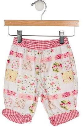 Christian Dior Girls' Printed Bow-Accented Pants