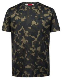 HUGO Boss Relaxed-fit T-shirt in pure cotton camouflage print S Patterned