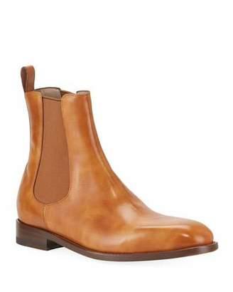 Manolo Blahnik Men's Delsa Leather Chelsea Boots