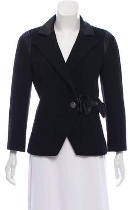 Chanel Silk-Trimmed Wool Blazer