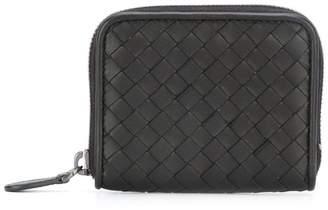 Bottega Veneta interlaced leather zipped wallet