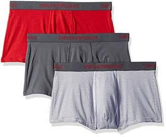 Emporio Armani Men's Pure Cotton 3 Pack Trunk