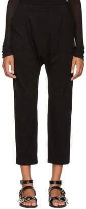 Raquel Allegra Black Side Pockets Lounge Pants