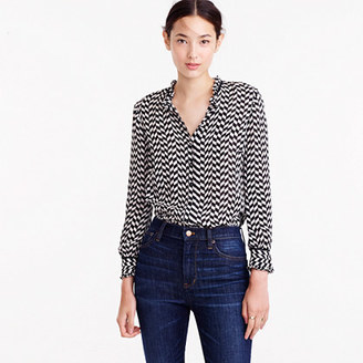 Silk button-up in geometric houndstooth $98 thestylecure.com