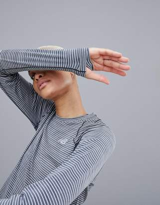 New Balance Running Long Sleeve Stripe Top