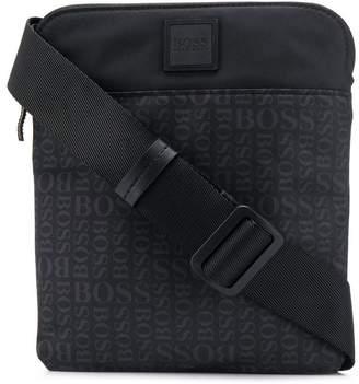 HUGO BOSS logo print crossbody bag