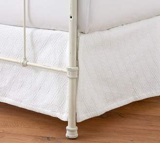 Pottery Barn Reeve Matelasse Organic Daybed Bed Skirt