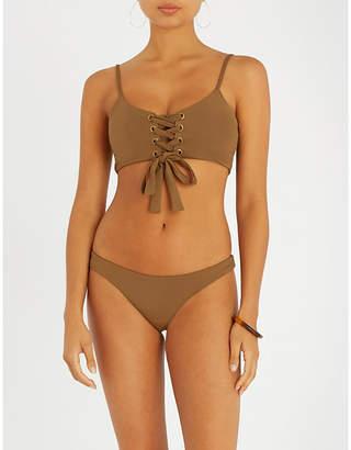 Mara Hoffman Scarlett lace-up bikini top