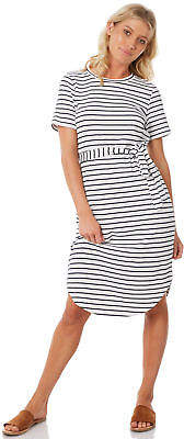 Elwood New Women's Kendra Dress Crew Neck Polyester Elastane