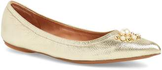 Linea Paolo Nadia Embellished Pointy Toe Flat
