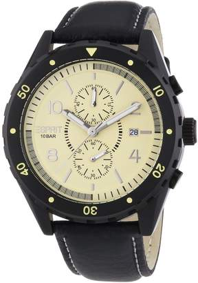 Esprit ES105551002 - Men's Watch, Leather, Black Tone
