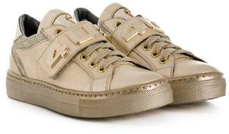 Cesare Paciotti 4Us Kids metallic sneakers
