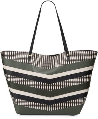 Neiman Marcus Alma Mixed Pattern Tote Bag