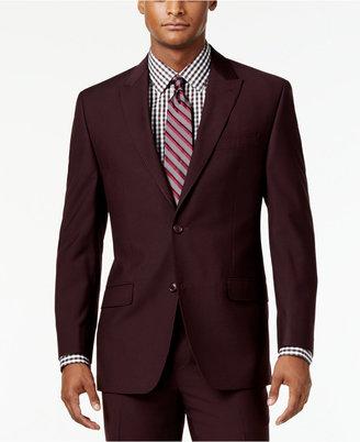 Sean John Men's Classic-Fit Burgundy Solid Suit Jacket $275 thestylecure.com
