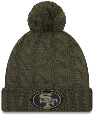 New Era Women's San Francisco 49ers Salute To Service Pom Knit Hat