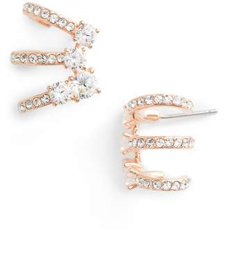 Nadri Multi Hoop Cubic Zirconia Earrings