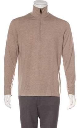 Hermes Cashmere & Silk Half-Zip Sweater
